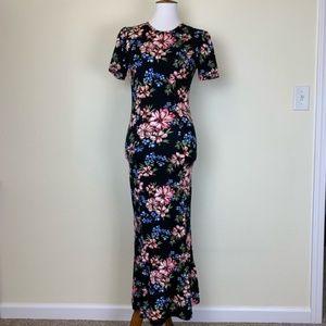 ASOS Floral Tea Length Midi Dress